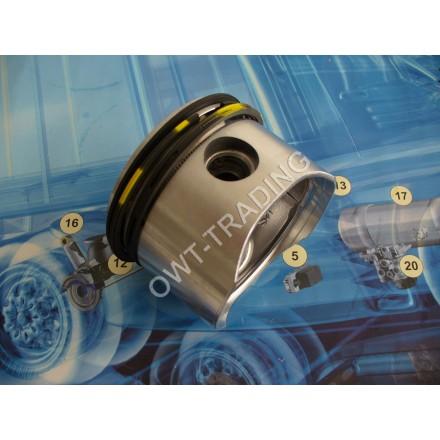 Piston compresor 75mm cu segmenti