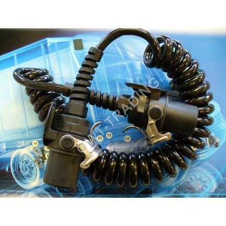 Cablu electric spiralat 7 poli